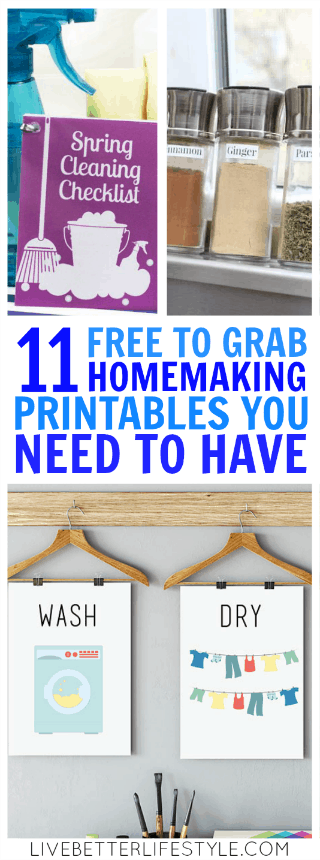 free homemaking printables
