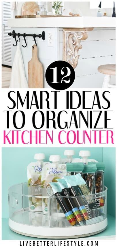 kitchen countertop organization ideas