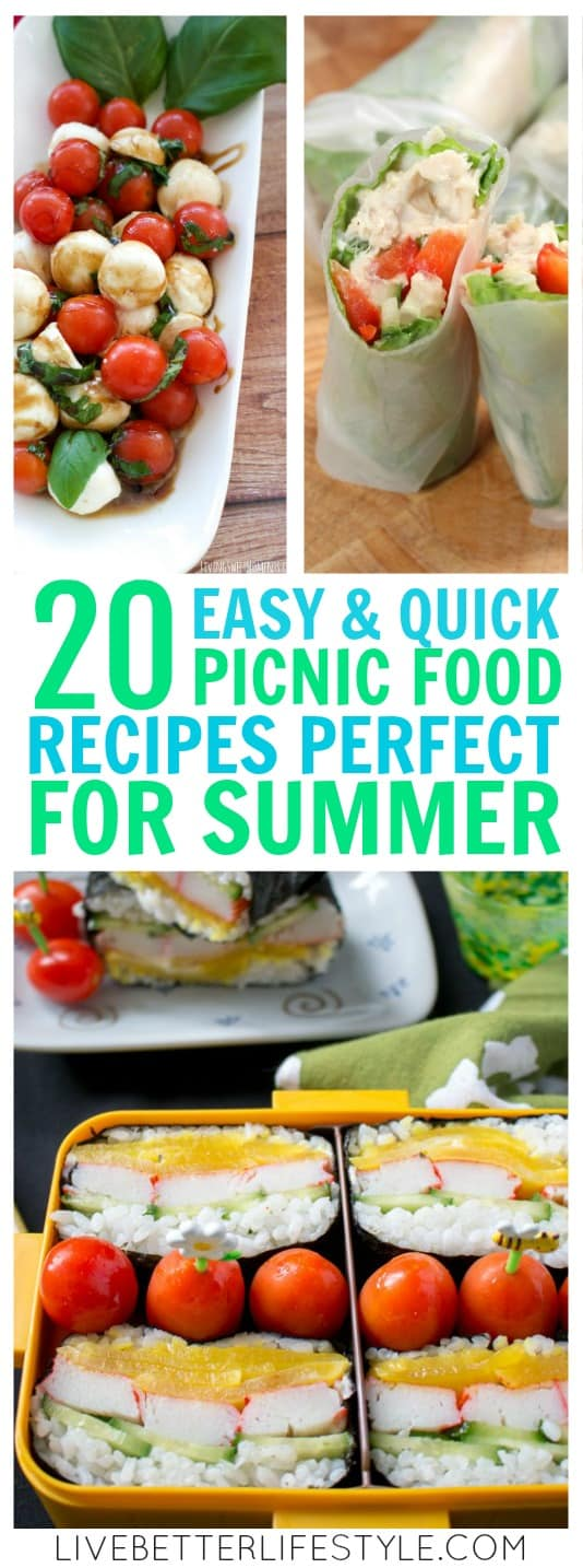 Easy and Quick Picnic Food Recipes Perfect For Summer