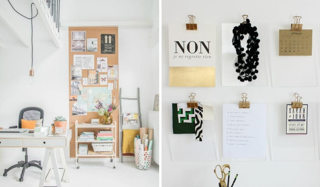 12 Brilliant Home Office Wall Organization Ideas