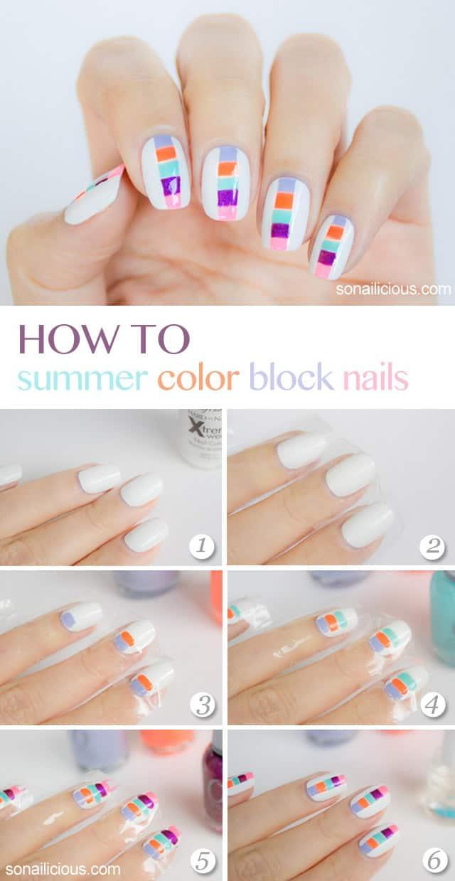 DIY summer nail art ideas
