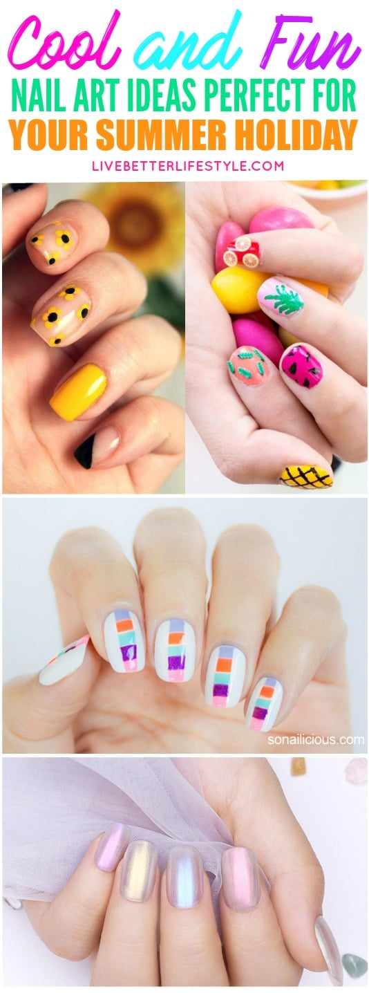 13 Cool DIY Summer Nail Art Ideas Perfect for Vacation - Live Better ...